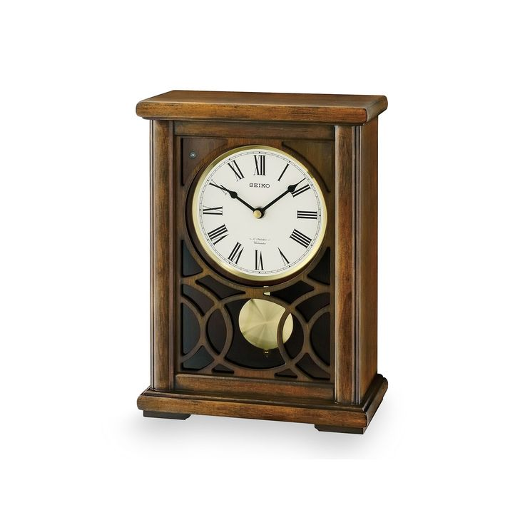 Seiko Albany Wood Musical Mantel Clock - QXW236BLH, Brown Oth
