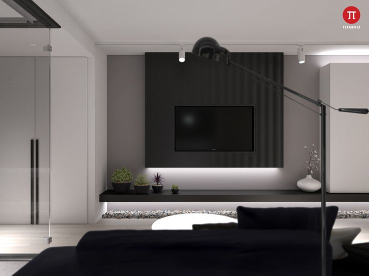Our Last Apartment, A Small Apartment For A Young Couple, Is Bolder With  Its. Tv PanelYoung ...