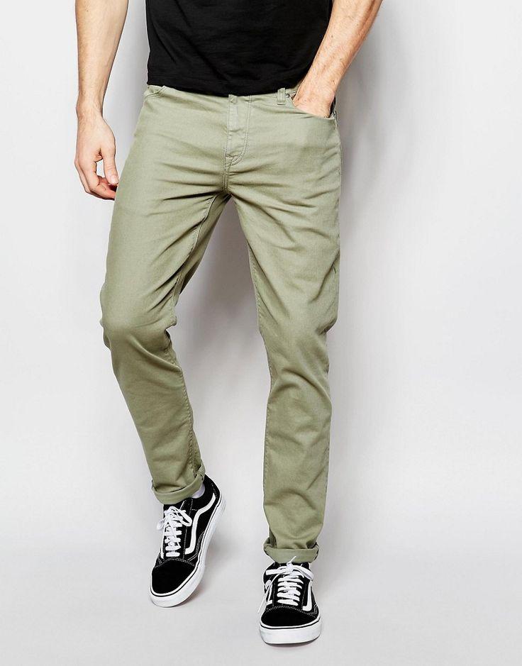Image 1 ofASOS Skinny Jeans In Light Khaki