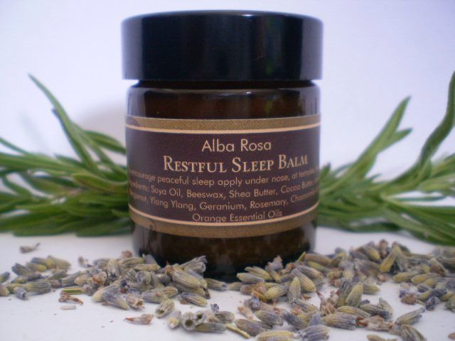 Restful Sleep Balm is made with a calming floral-citrus blend of essential oils.This balm is designed to aid relaxation and encourage peaceful sleep.