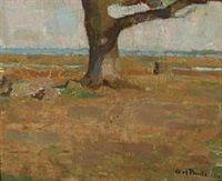 Tree trunk at Skejten by Fuglsang, Denmark, 1908 Olaf Rude