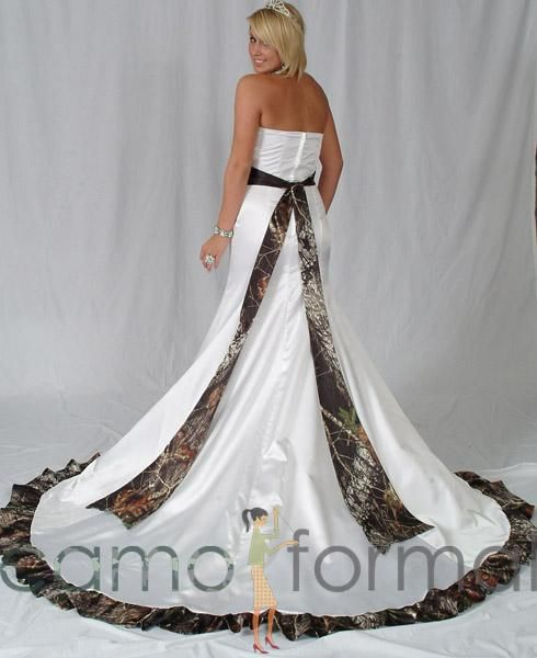Trendy Cheap camo wedding dresses for sale online Weddingdresstrend supplies personalized camouflage wedding gowns to hunting brides