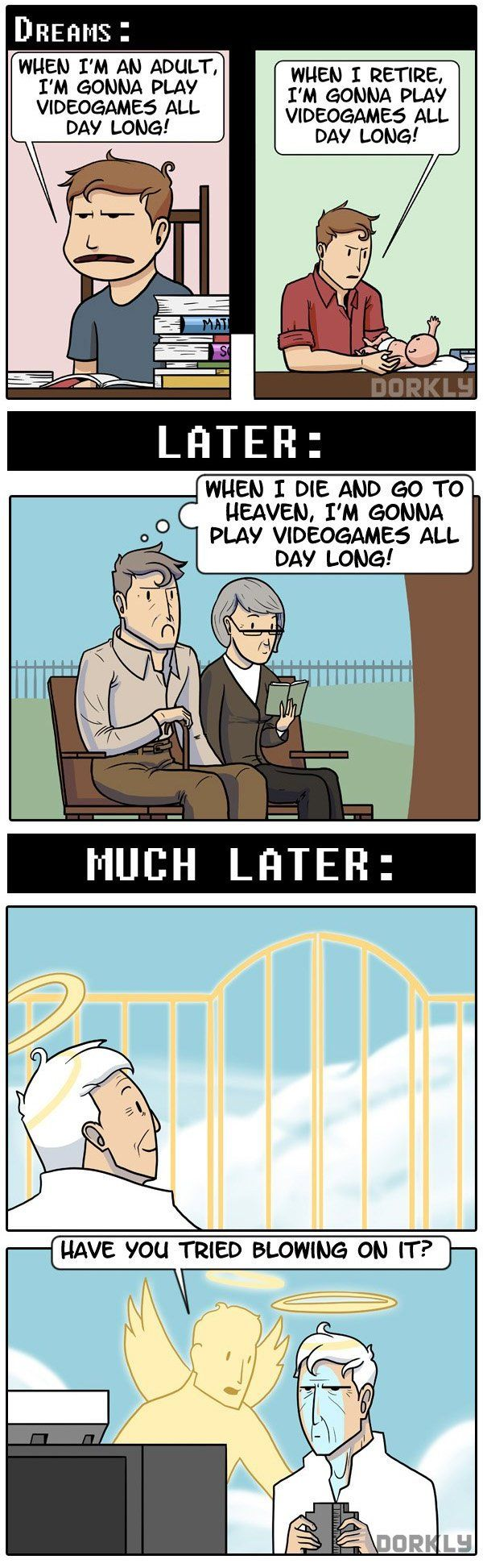 """""""Gaming, Then & Now (Part 3b)"""" #dorkly #geek #videogames"""