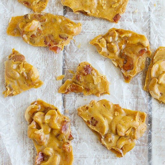 Cashew Bacon Brittle | Playing Chef | Pinterest