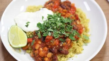 Lust Nicholas het of niet: chili sin carne met quinoa