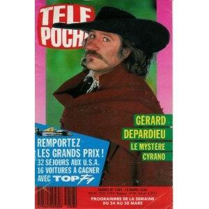 Gérard Depardieu : le mystère Cyrano, dans Télé Poche (n°1258) du 19/03/1990 [couverture et article mis en vente par Presse-Mémoire]