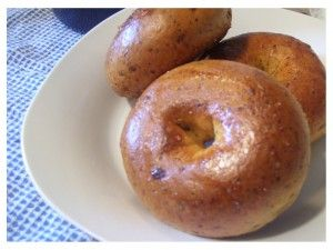 the bagel bitch's sundried tomato and basil bagel recipe.  with a name like the bagel bitch, you know it's good.