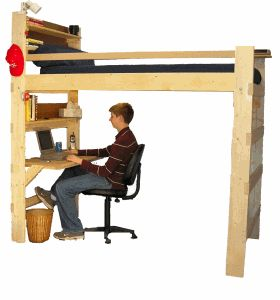 Loft Bed & Bunk Beds for Home & College - Made in America