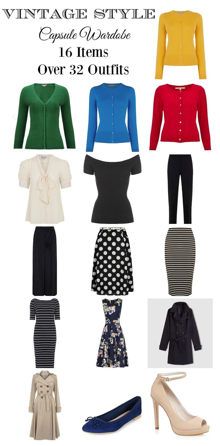 How to create and build a vintage and retro inspired capsule wardrobe for Spring. Vintage and Retro style advice at www.vintagen.co.uk