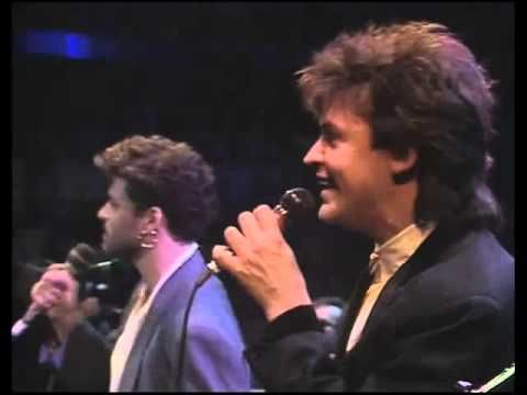 Elton John, George Michael & Paul Young - Every Time You Go Away - 1986 (By Lázaro) - YouTube