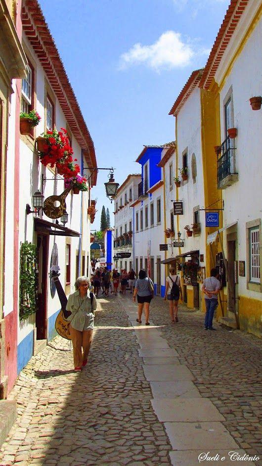 Rua Direita, Vila de Óbidos, Portugal