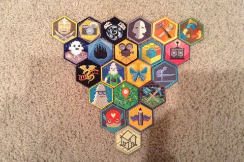 DIY badge collection
