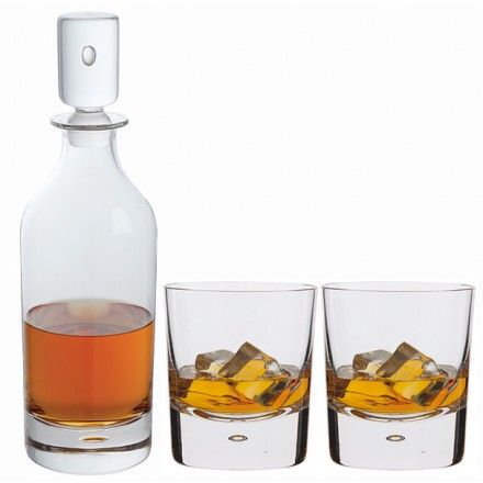 Dimple Decanter Double Old Fashioned Whisky Glass Pair