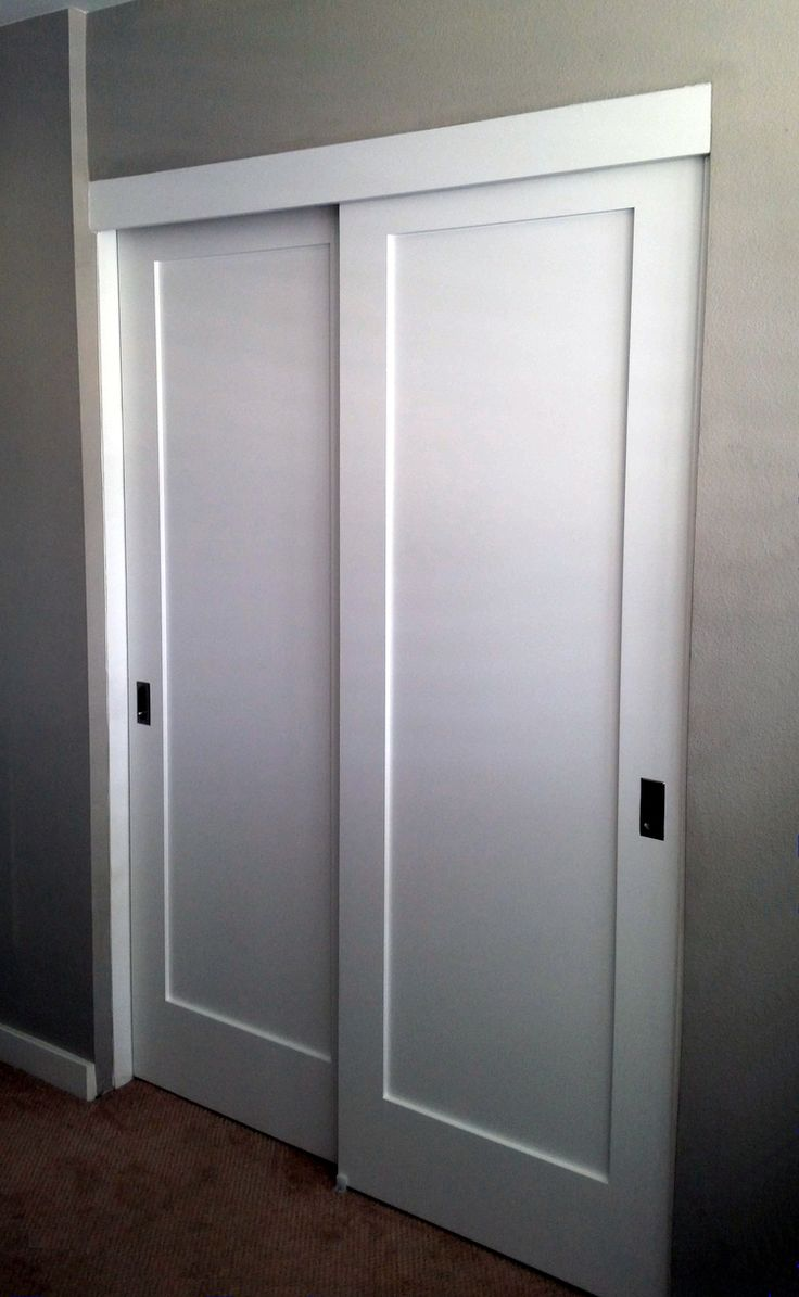 Closet Door mirrored closet door parts images : Panel, Louver, and Flush Doors | Closet door office... | Pinterest ...