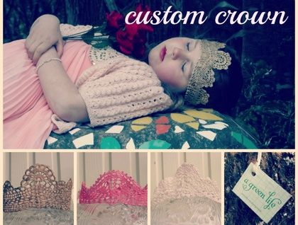 Custom Lace Crown | Felt.co.nz $15