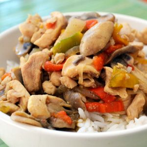 Thai green curry recipe (Low fat)