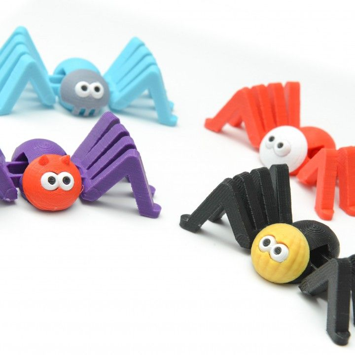 3D Printable Scary Spiders Go Trick or Treating! by Clockspring