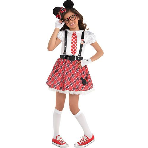 6f94764efccc Girls Minnie Mouse Nerd Costume Party City