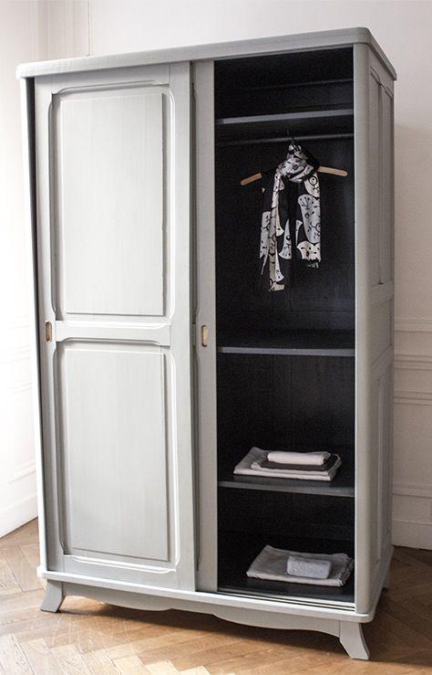 Best 25 grande armoire ideas on pinterest armoire chambre armoire chambre - Armoire penderie portes coulissantes ...