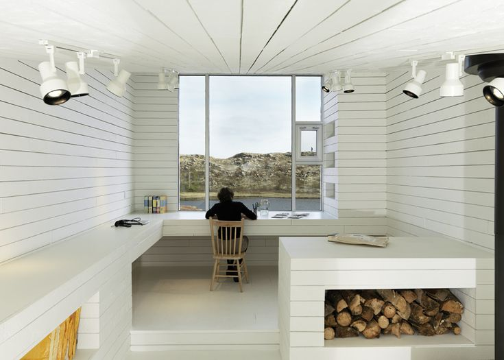 Artists' studios that Saunders Architecture of Norway have designed for the picturesque Fogo Island in Canada. (photographs by Bent René Synnevåg).