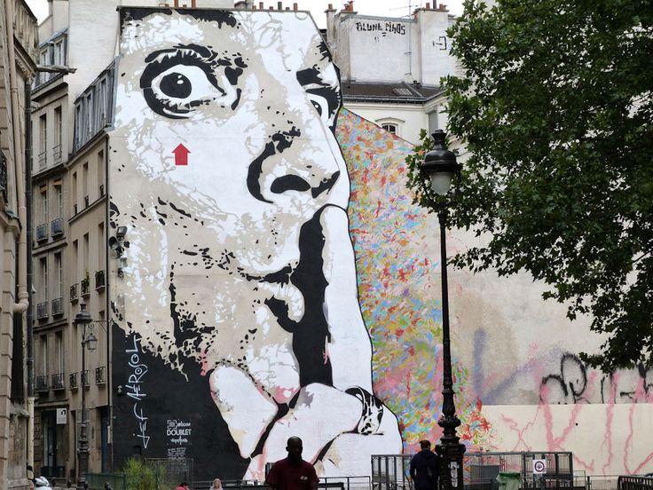 Jean-François Perroy alias Jef Aérosol - More artists around the world in : http://www.maslindo.com #art #artists #maslindo