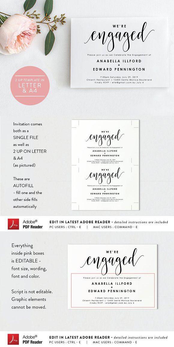 Engagement Invitation Editable Pdf Digital Invitations