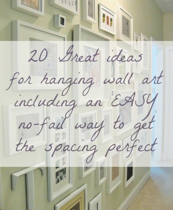 Best 20 wall hanging arrangements ideas on pinterest - Hanging pictures on walls ...
