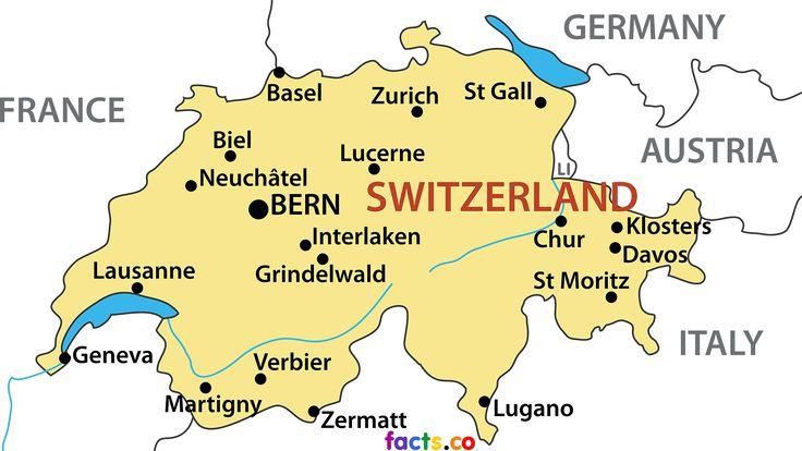 switzerland map blank political switzerland map with cities