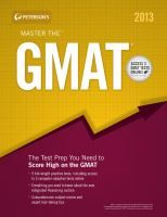 Peterson's Master the GMAT 2013