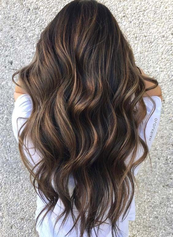 32 Flattering Brunette Balayage Highlights in 2018 - #Balayage #Brunette #Flattering #Highlights #warm