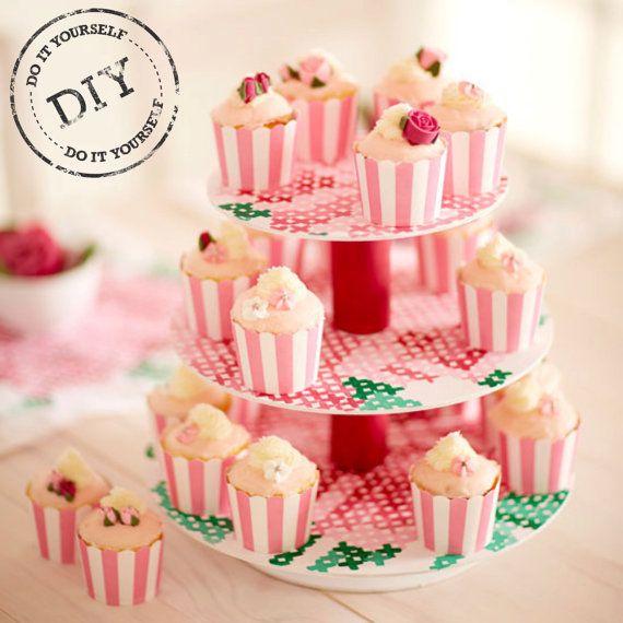 Urban Crafter Tea Party Cupcake Stand DIY Kit