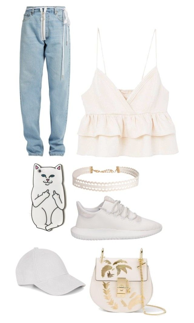 """Untitled #9"" by angeline-mewengkang on Polyvore featuring MANGO, Off-White, Humble Chic, adidas, RIPNDIP and Chloé"