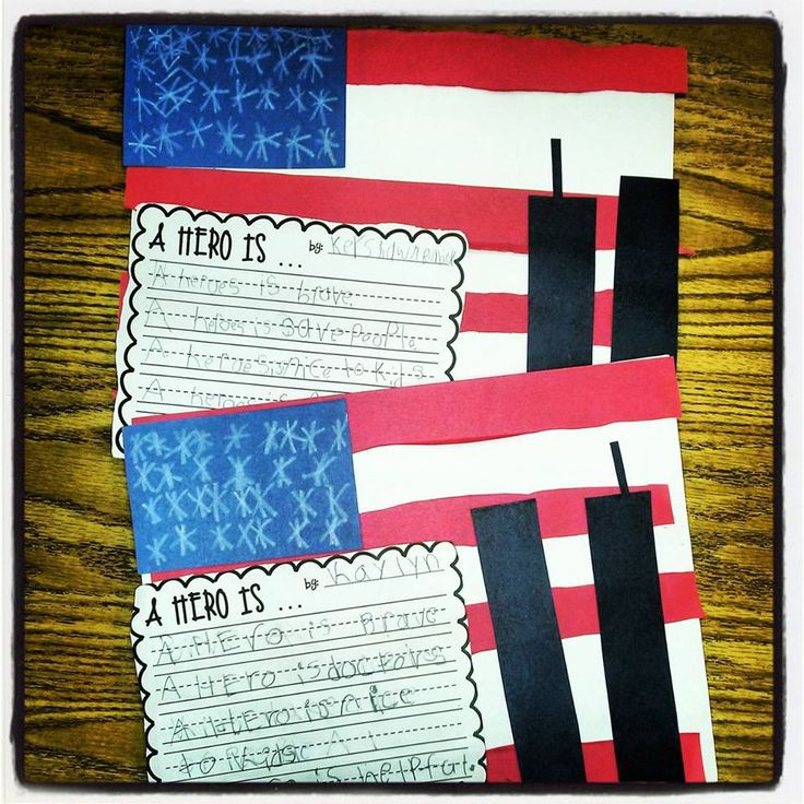 9/11 freebie and flag craft