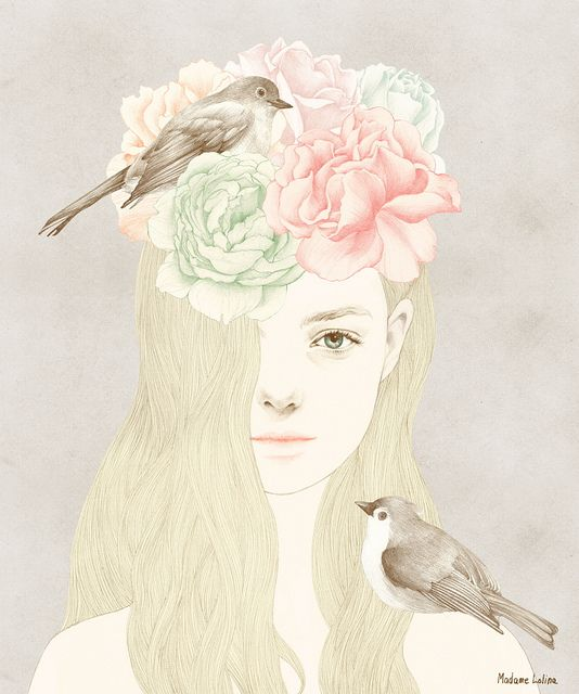 Delicate pastel Illustration x