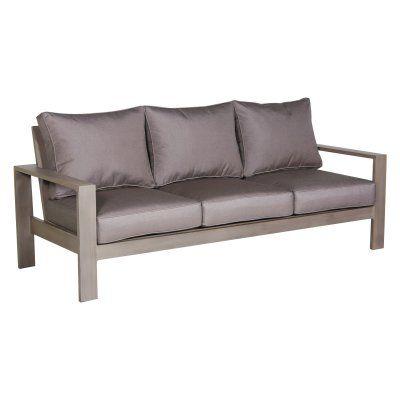 teva patio aluminum outdoor sofa with sunbrella cushions 101so