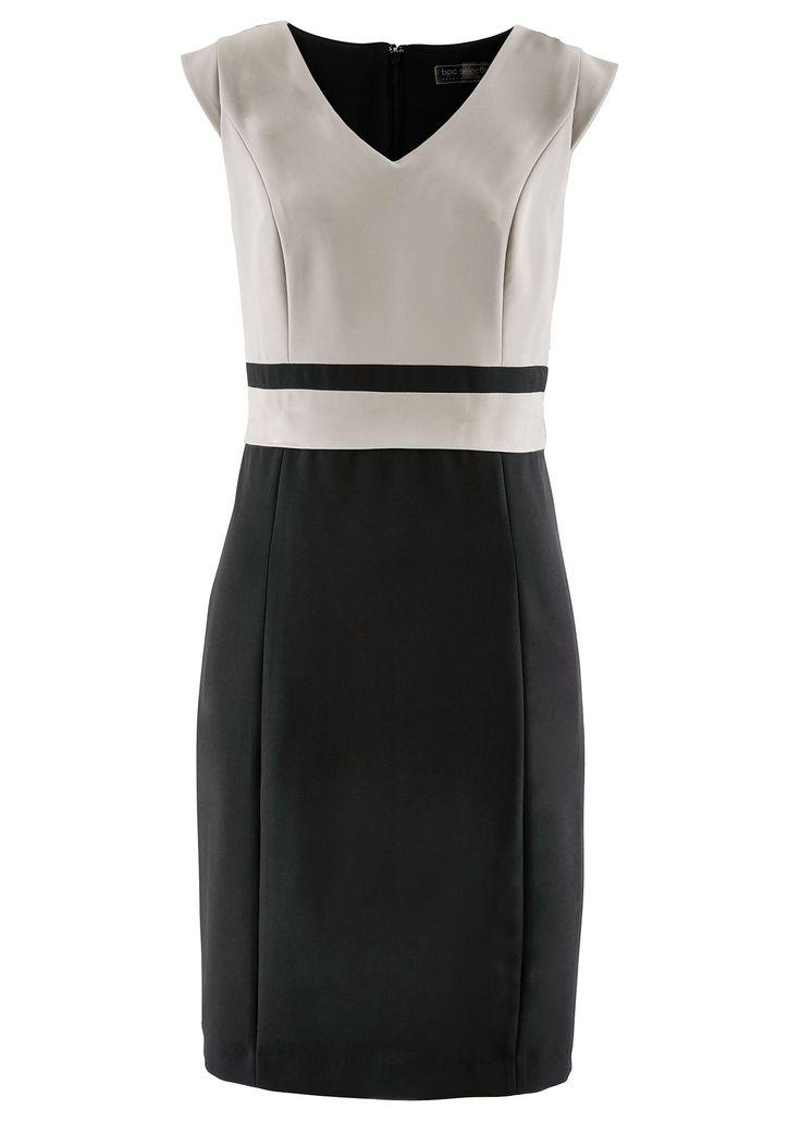Vestido tubinho bicolor marrom claro/preto encomendar agora na loja on-line…