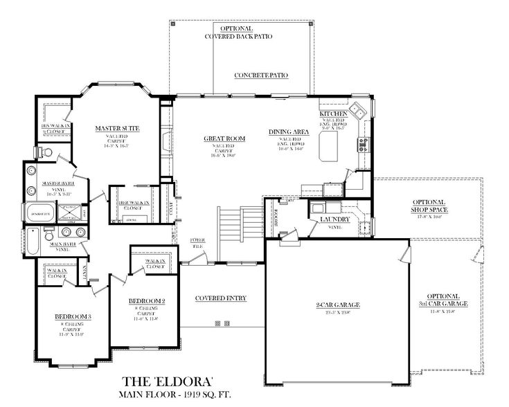 79 best house plans ideas images on pinterest house for Kitchen plans with island and pantry