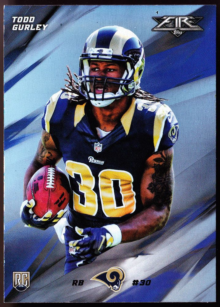 LOS ANGELES RAMS 2015 TOPPS FIRE SILVER PARALLEL TODD GURLEY ROOKIE FREE SHIP #LosAngelesRams