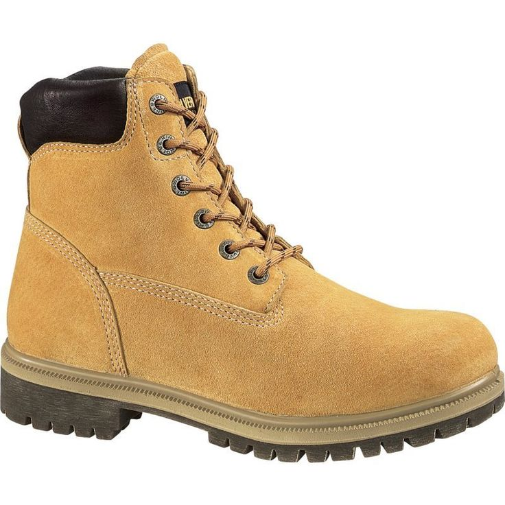 """Wolverine Men's 6"""" Waterproof Insulated Work Boots, Size: 12.0 WIDE, Gold"""