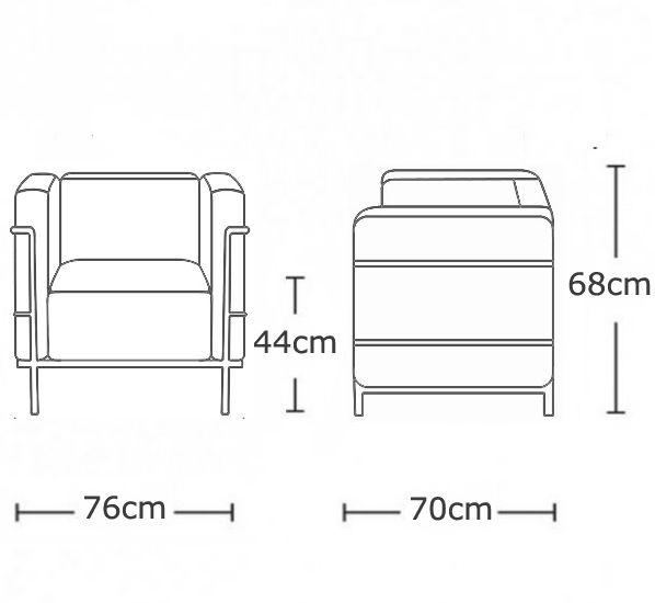 Le Corbusier Lc2 Sofa Dimensions Teachfamilies Org