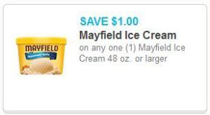 $1/1 Mayfield Ice Cream Coupon + BOGO at W/D ends Today