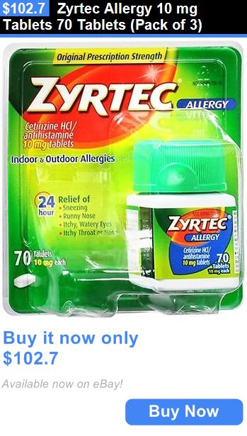 Other OTC Medicine: Zyrtec Allergy 10 Mg Tablets 70 Tablets (Pack Of 3) BUY IT NOW ONLY: $102.7