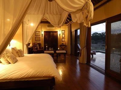 Tinga Game Lodge in Kruger National Park - absolutely one of my favorites not only for the early morning and sundown safaris but the rooms are incredible... and it's where i discovered Amarula-yum!