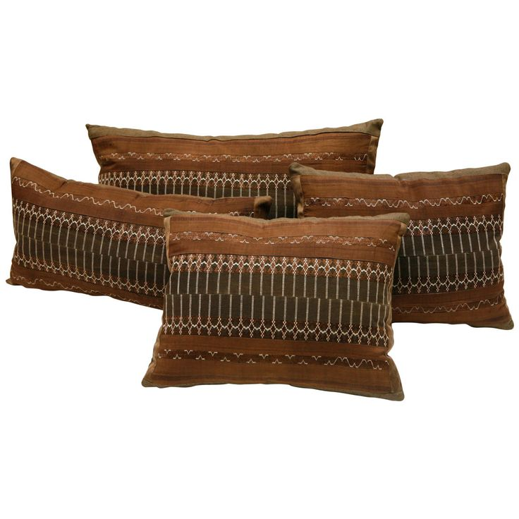 SE Asian Yao Tribal Brocade Pillows | From a unique collection of antique and modern pillows and throws at http://www.1stdibs.com/furniture/more-furniture-collectibles/pillows-throws/