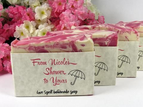 Custom soap baby shower favors or soap bridal shower favors for your favorite bride or mother-to-be!  #bridalshowerfavor #babyshowerfavor