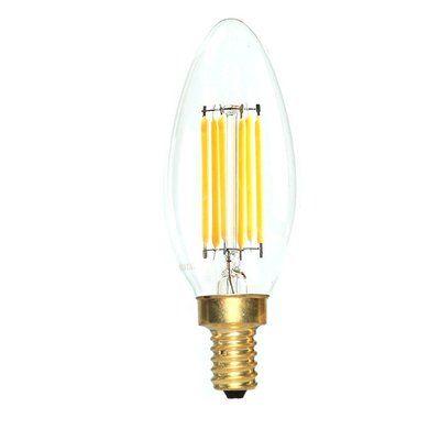 EdisonMills E12 LED Filament Light Bulb Wattage: 60 W