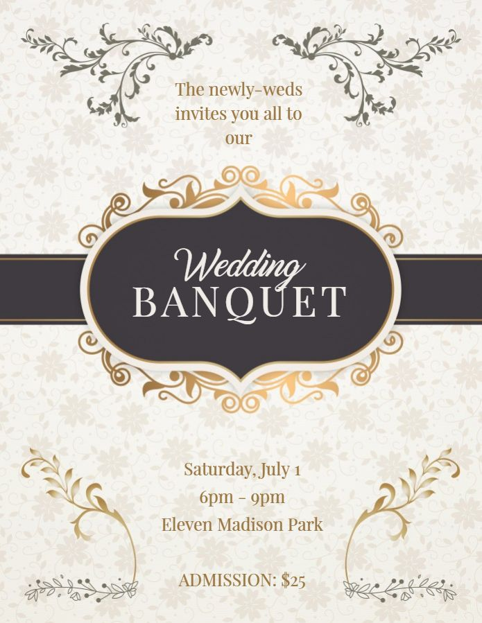 Save the date Banquet dinner event invitation flyer template - Invitation Flyer Template