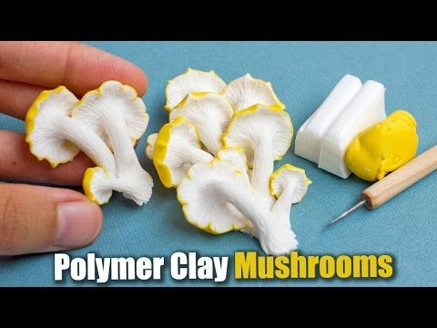 Learn how to sculpt realistic mushrooms using polymer clay. I'm using fimo for…