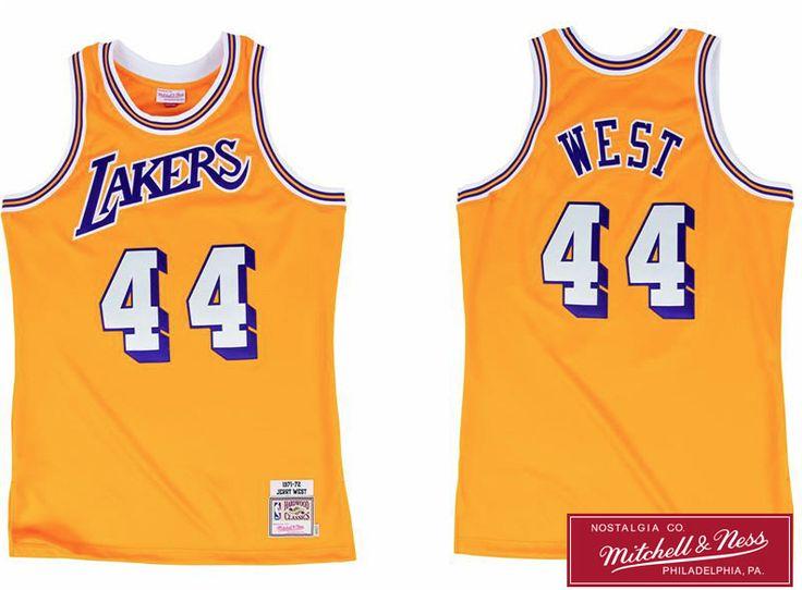 Men's Jerry West Los Angeles Lakers Mitchell & Ness Gold 1971-72 Hardwood Classics Swingman Jersey