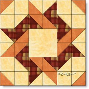 Frolic quilt block image © Wendy Russell